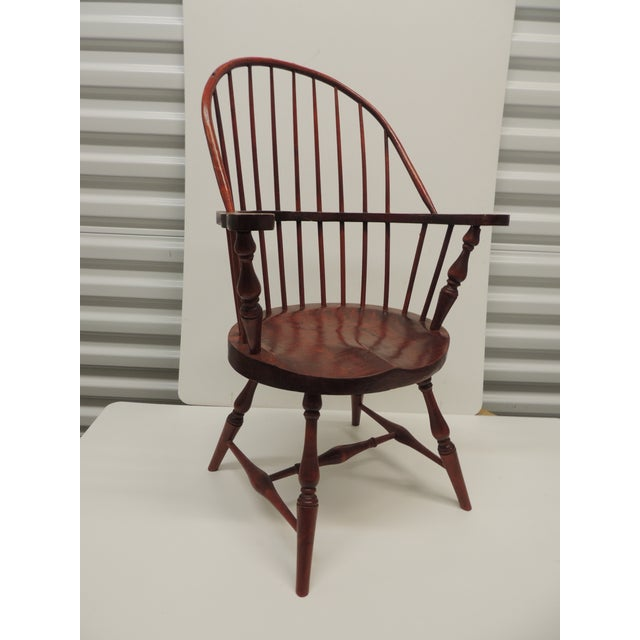Wood Vintage Child's Windsor Arm Chair For Sale - Image 7 of 7