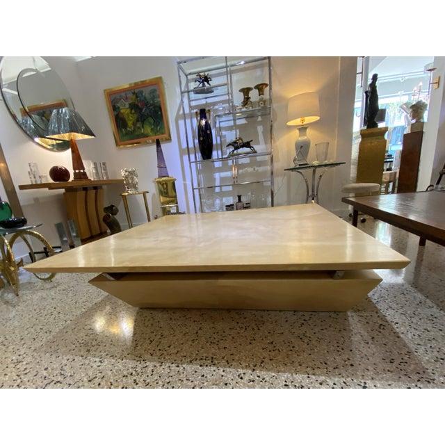 Karl Springer Karl Springer Style Goatskin Cocktail Table For Sale - Image 4 of 13