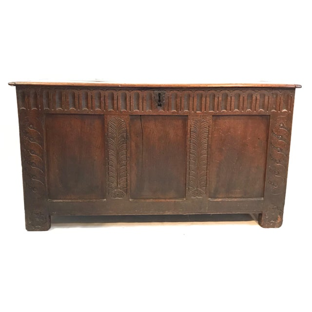 Early 18th Century British Coffer Blanket Chest For Sale - Image 4 of 4