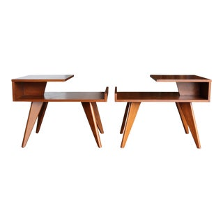 Mid-Century Modern Dan Johnson for Hayden Hall End Tables - a Pair For Sale