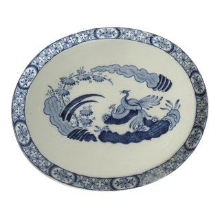 Vintage Old Chelsea Pottery Blue & White Trivet For Sale