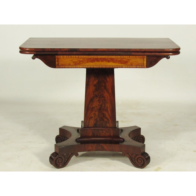 19th Century American Empire Card Table For Sale - Image 11 of 11