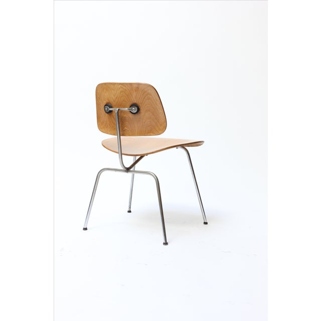 Industrial Eames DCM Chair by Herman Miller For Sale - Image 3 of 11