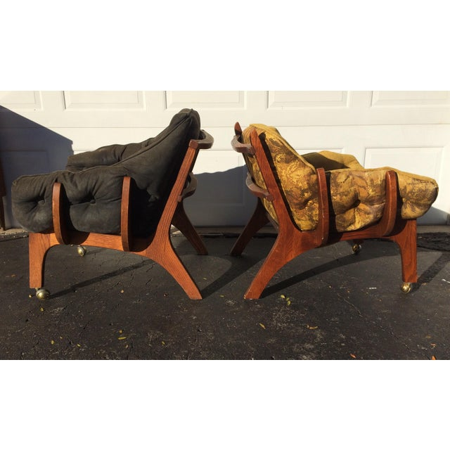 Sculptural Mid-Century Claw Chairs - A Pair - Image 2 of 10