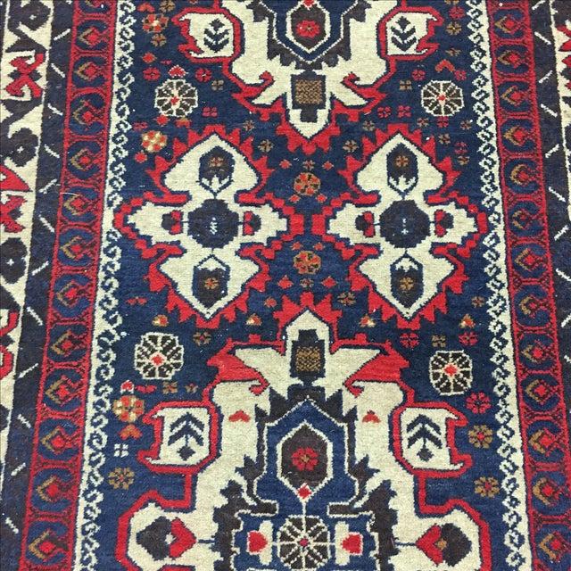 Hand Woven Afghan Rug - 3′11″ × 6′9″ - Image 4 of 6