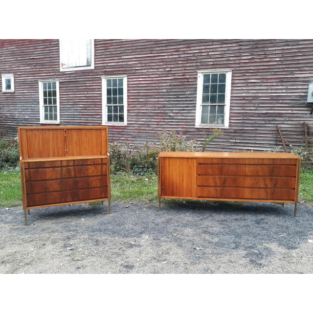 Gold William Hinn,Edmund Spence,Sweden,bedroom Set,chest of Drawers,UNIQUE and Rare Set For Sale - Image 8 of 11