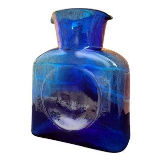 Blenko Cobalt Blue Water Bottle For Sale