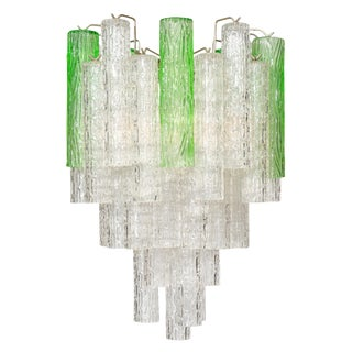 Murano Glass Two Toned Vintage Chandelier For Sale
