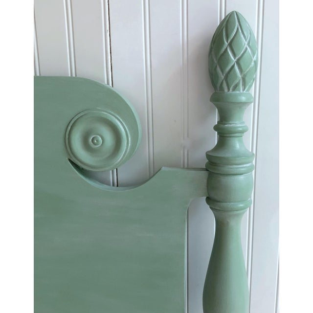 Shabby Chic Vintage Shabby Chic Twin Bed With Pineapple Finials For Sale - Image 3 of 8