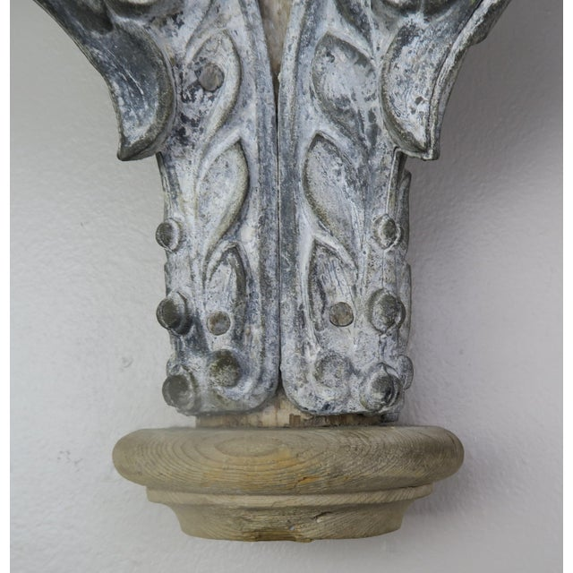 Neoclassical Pair of French Painted Corbels, Circa 1940s For Sale - Image 3 of 13