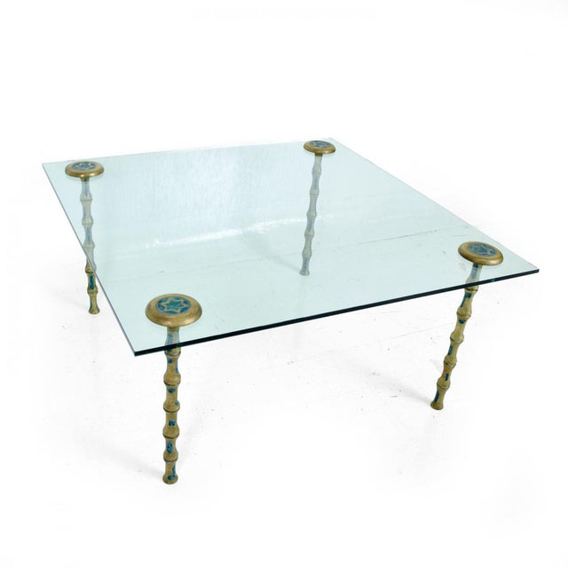 Metal Mid Century Mexican Modernist Pepe Mendoza Set of Four Legs for Coffee Table For Sale - Image 7 of 7