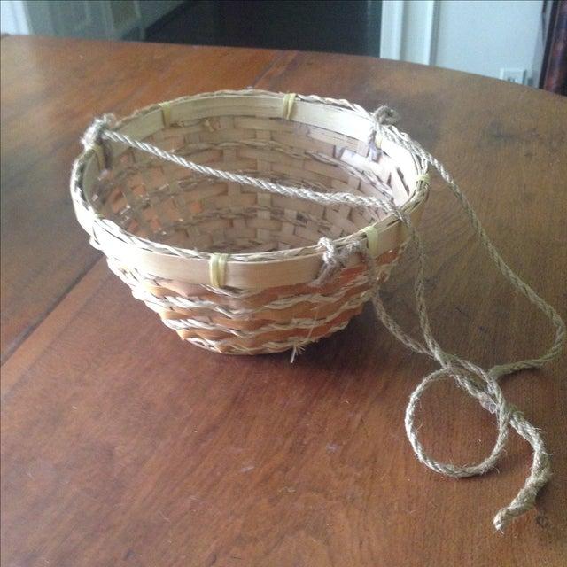 Vintage Hanging Wicker Baskets - Set of 3 - Image 8 of 11