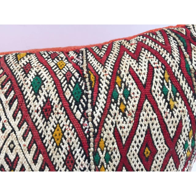 Mid 20th Century Moroccan Berber Pillow With Tribal African Designs For Sale - Image 5 of 13