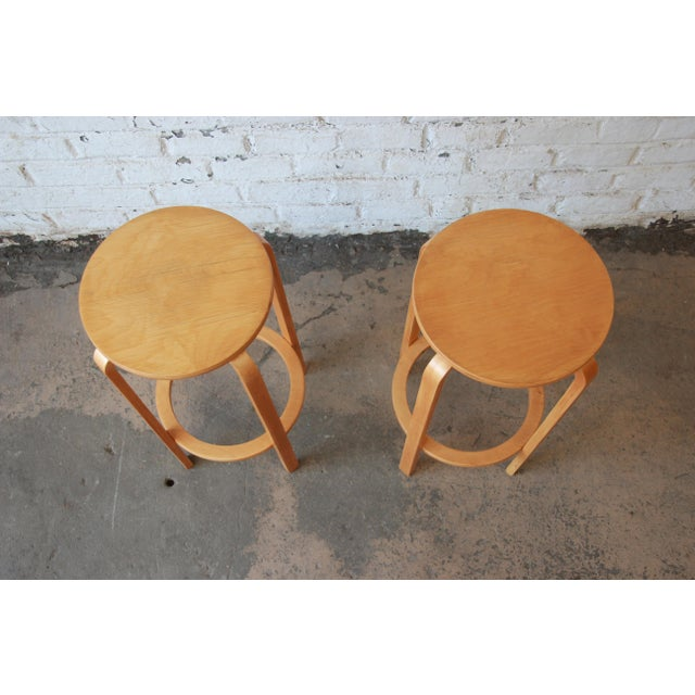 Alvar Aalto for Artek Bentwood Bar Stools - a Pair For Sale In South Bend - Image 6 of 9