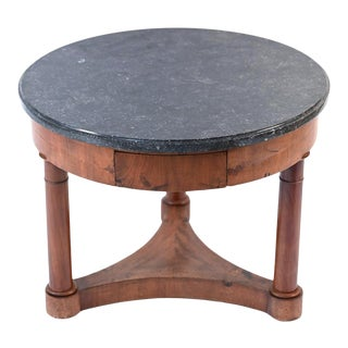 19th Century Round Mahogany Side Table For Sale