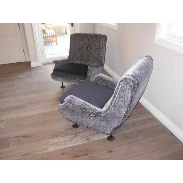 Marco Zanuso Marco Zanuso Regent Italian Lounge Chair - a Pair For Sale - Image 4 of 12