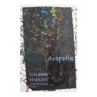 1976 French Riopelle Exhibition Poster