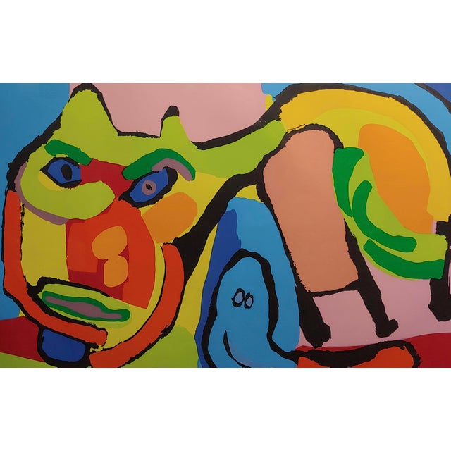 1960s 1969 Vintage Karel Appel Abstract Cat Original Signed Lithograph Print For Sale - Image 5 of 8