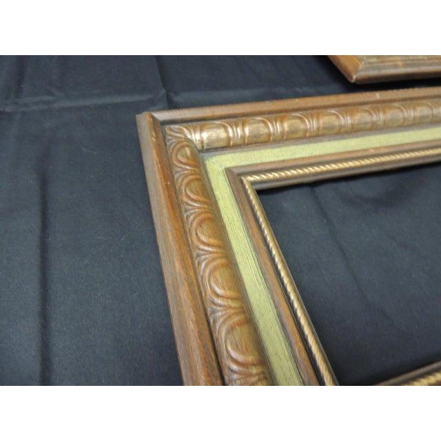 Hollywood Regency Set of (3) Vintage Green Painted Wood Art Frames For Sale - Image 3 of 6