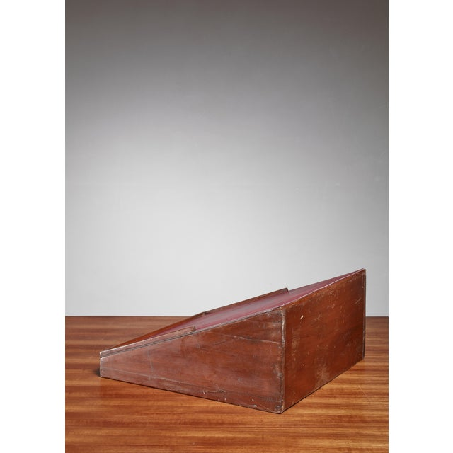 Pierre Jeanneret Pierre Jeanneret Teak and Leather Reading Stand From Chandigarh For Sale - Image 4 of 5