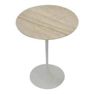 Eero Saarinen Knoll Tulip Table with Travertine Marble Top For Sale