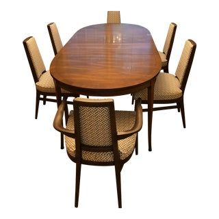 Mid-Century Modern Walnut Dining Room Table and Chairs