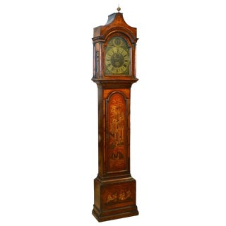 Red Chinoiserie Grandfather Clock