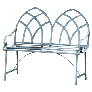 21st Century Gothic Style Garden Bench For Sale
