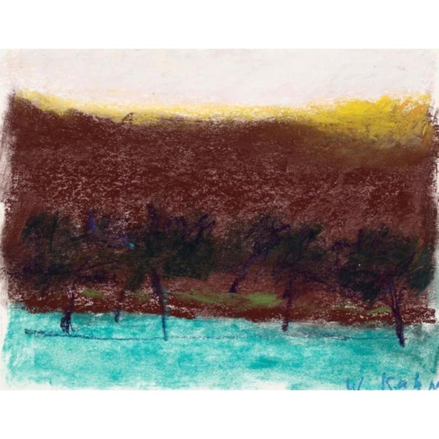 Impressionist Wolf Kahn Trees Against Brown Background 2000 For Sale - Image 3 of 3