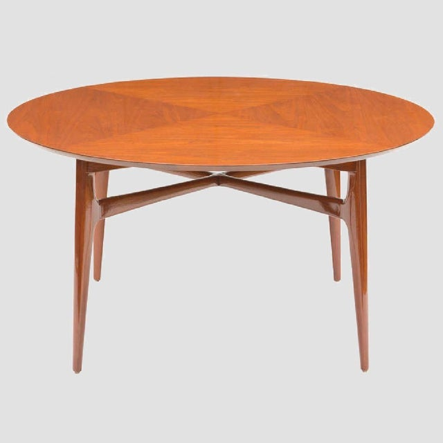 Mid-Century Modern Mid-Century Matched Walnut and Mahogany Cocktail Table For Sale - Image 3 of 5