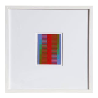 Richard Ansuzkiewicz, Annual Edition, Op Art Screenprint on Board For Sale