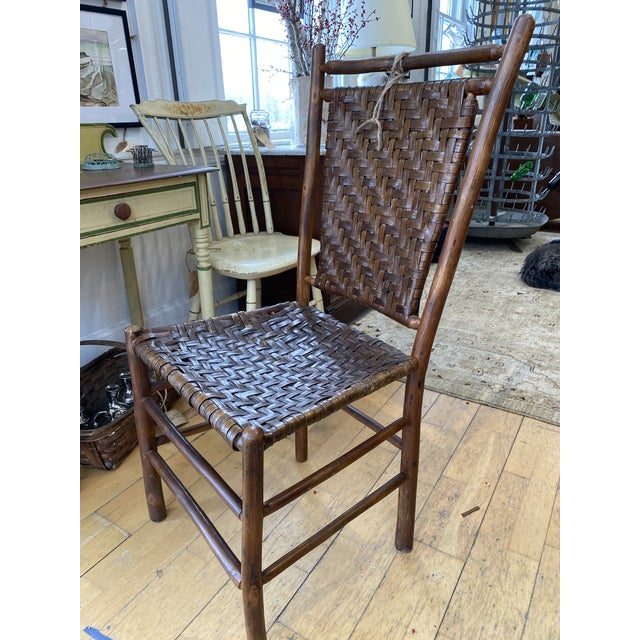 Old Hickory Furniture Company Old Hickory Dining Chairs - a Pair For Sale - Image 4 of 9