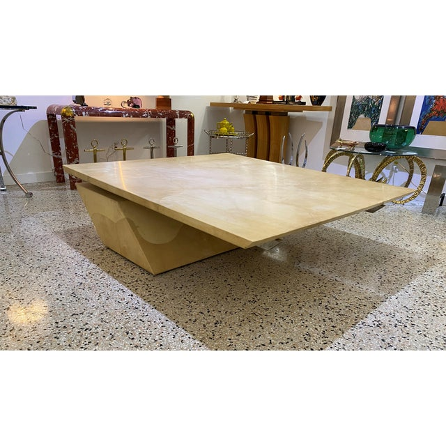 Karl Springer Style Goatskin Cocktail Table For Sale - Image 11 of 13