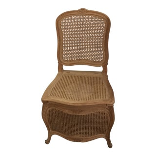 Sherle Wagner French Provincial Cane Commode Chair For Sale