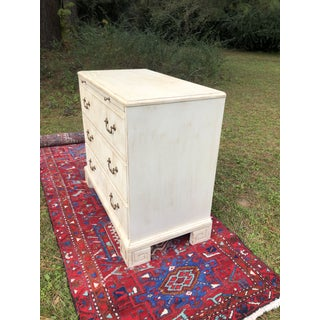 Hickory White Chest With Flutted Drawers and Greek Key Legs Preview