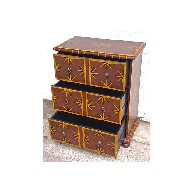 Vintage Starburst Painted Chest of Drawers - Image 4 of 6