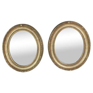 Napoleon III Gilt Framed Mirrors, Pair For Sale