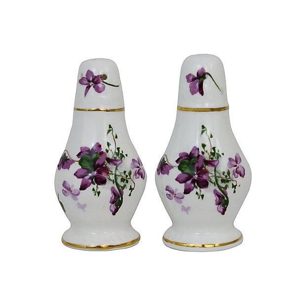 Lilacs Salt & Pepper Shakers - A Pair - Image 1 of 6