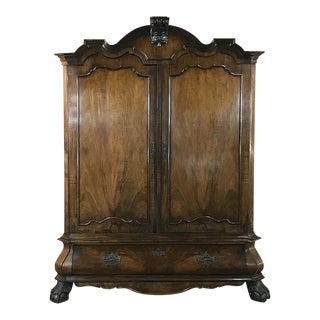 18th Century Dutch Mahogany Armoire - Cabinet For Sale