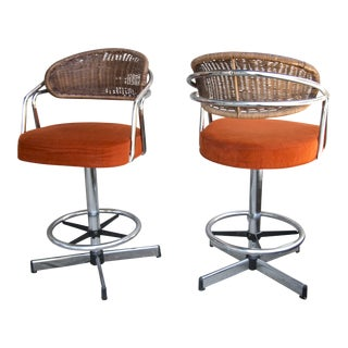 Vintage Cosco, Inc Counter Stools - a Pair