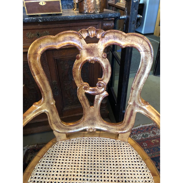 Late 19th Century Late 19th Century Antique Hand Carved Venetian Arm Chair For Sale - Image 5 of 11