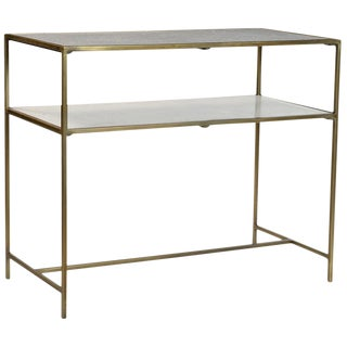 Brass & Marble Console Table For Sale