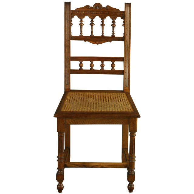 Antique French Renaissance Henry II Oak Chairs - 8 - Image 5 of 8