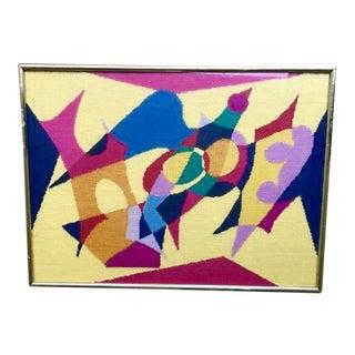 Cubism Art Replica Needlepoint Framed Art