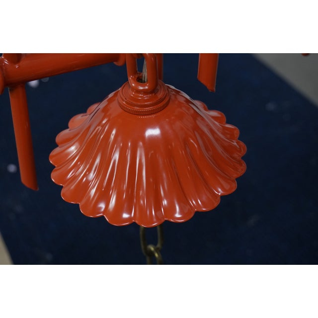 Faux Bamboo Pagoda Chandelier - Image 6 of 7