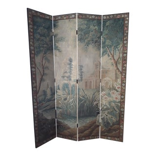 20th Century Hand Painted Screen For Sale