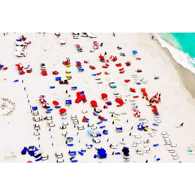 Contemporary South Beach Red and Blue Photograph For Sale - Image 3 of 3
