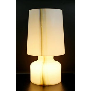 Mid Century Modern Large White Murano Glass Table Lamp 1970s Italy Preview