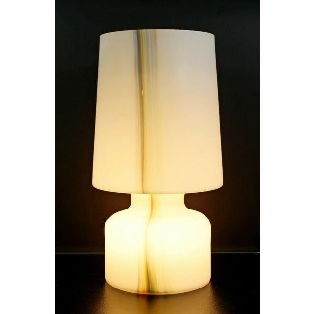 For your consideration is a magnificent, large table lamp, made of a single sheet of white and colored Murano glass, made...