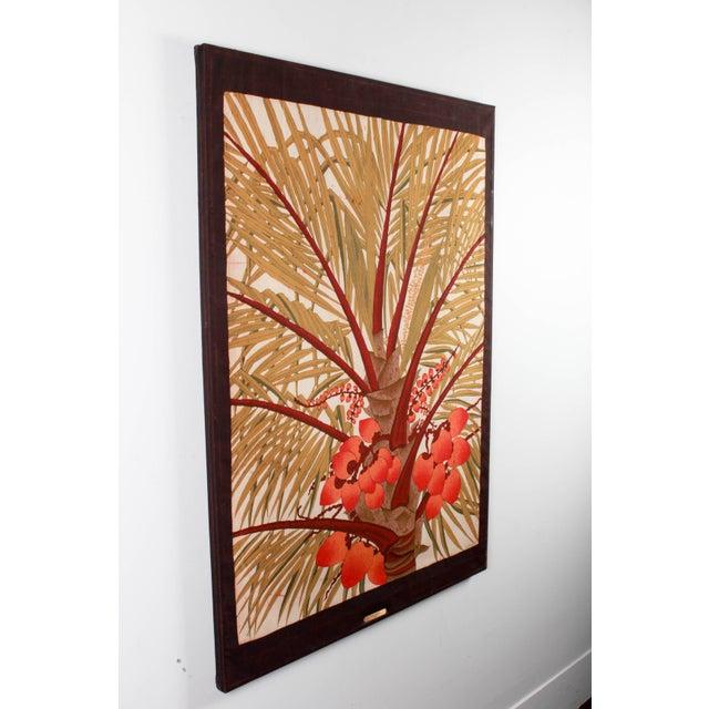 "Contemporary Vipula Dharmawardena (Sri Lankan) ""King Coconut"" Batik For Sale - Image 3 of 10"